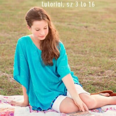 Girls Poncho Tutorial (sz 3 to 16)