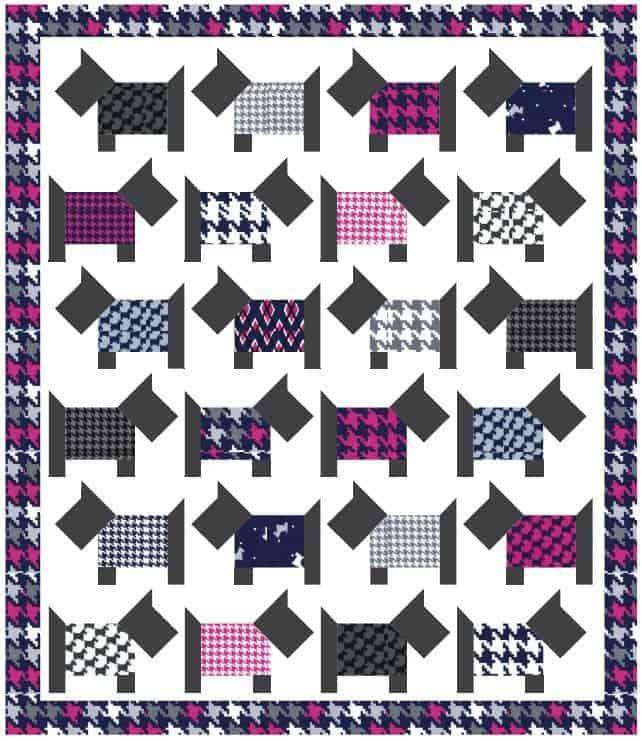dog quilt block