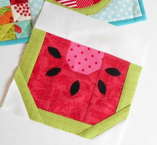 watermelon quilt blocck