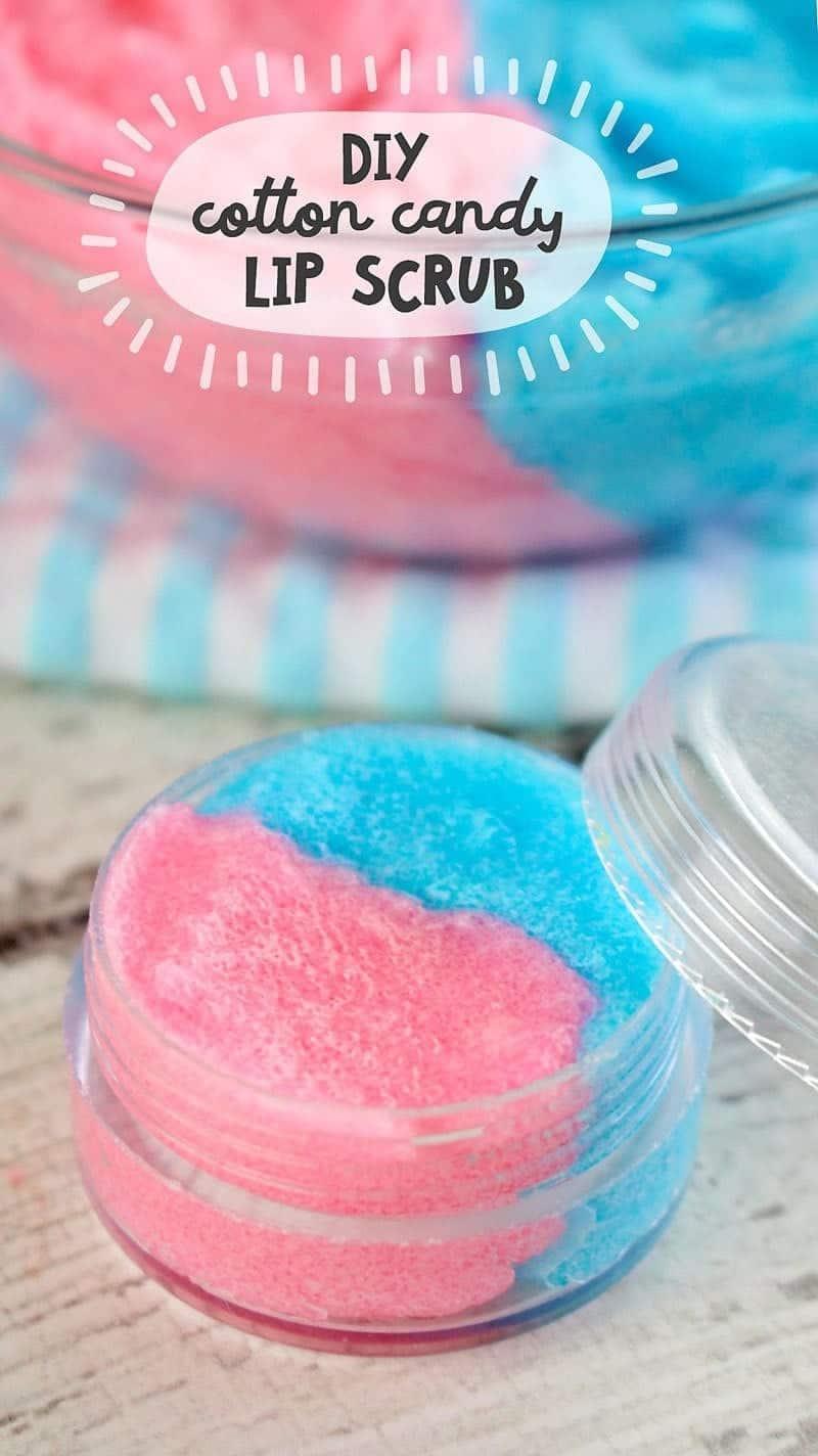 DIY Cotton Candy Sugar Lip Scrub