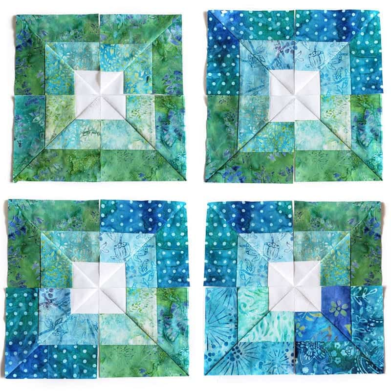 Learn how to make an easy square in square quilt block from a jelly roll!