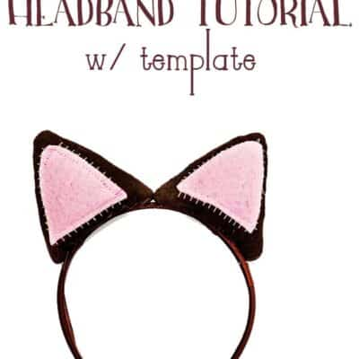 DIY Cat Ear Headband Tutorial w/ Template