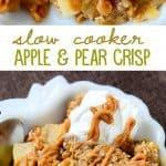 Slow Cooker Apple Pear Crisp recipe