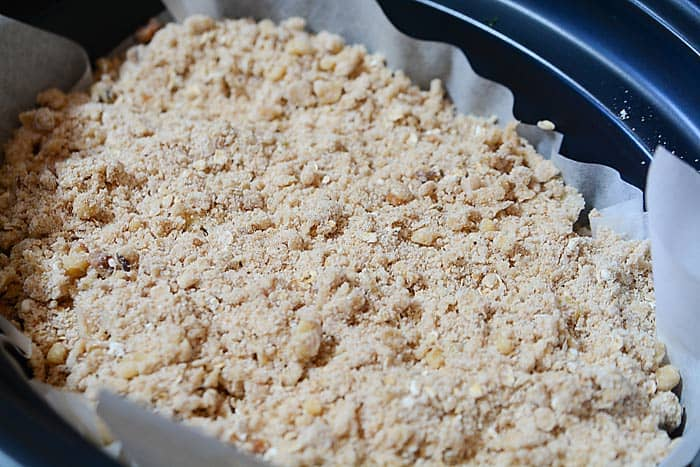 topping for apple pear fruit crisp