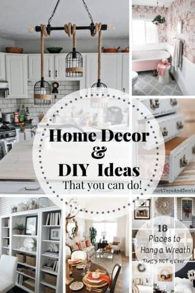 Home Decor Ideas you can do! + Inspiration Monday