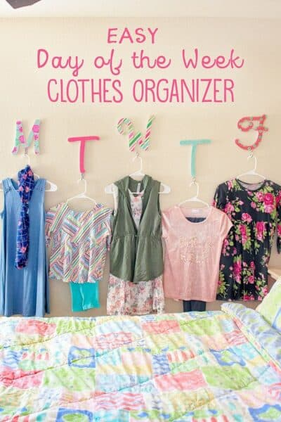 DIY Daily Clothes Organizer (+Giveaway)