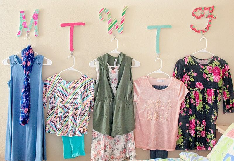 DIY Daily Clothes Wall Organizer