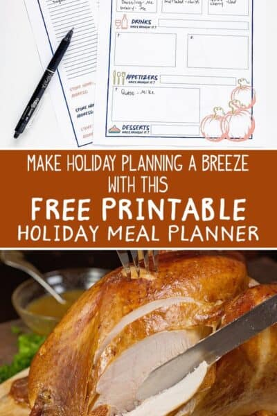 free holiday meal planner