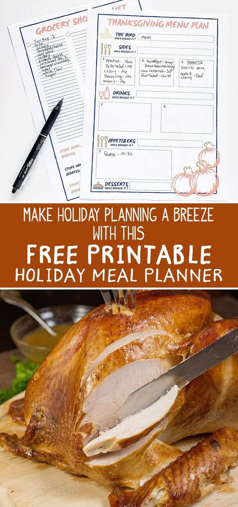 How to Have an Awesomely Organized Thanksgiving Dinner (+ FREE Thanksgiving Planner)