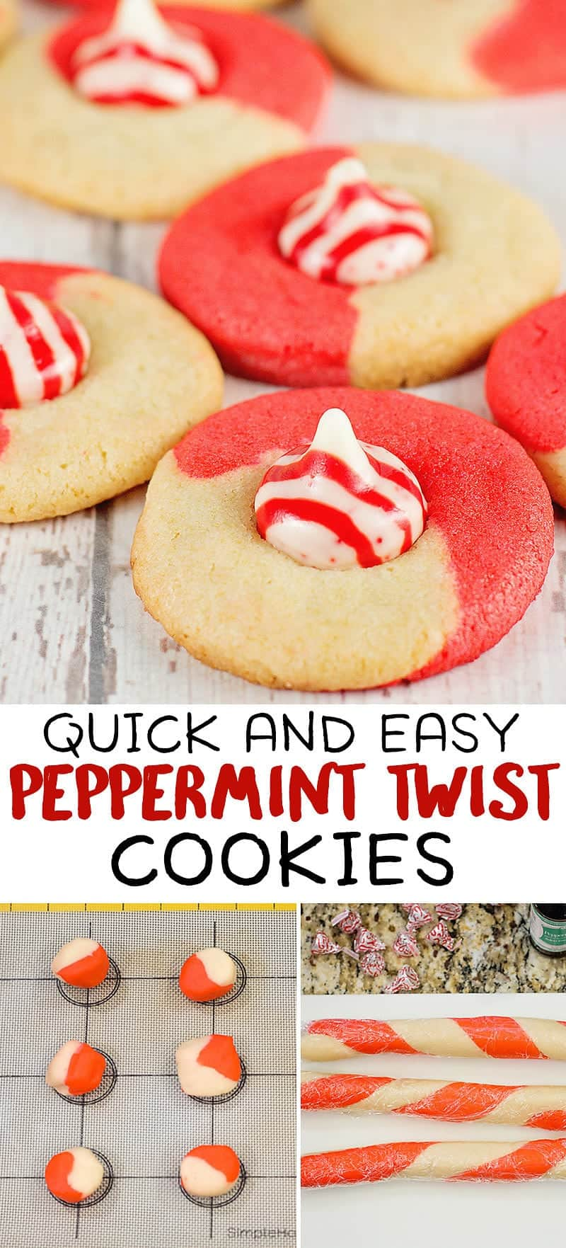 Easy Peppermint Kiss Cookie Recipe