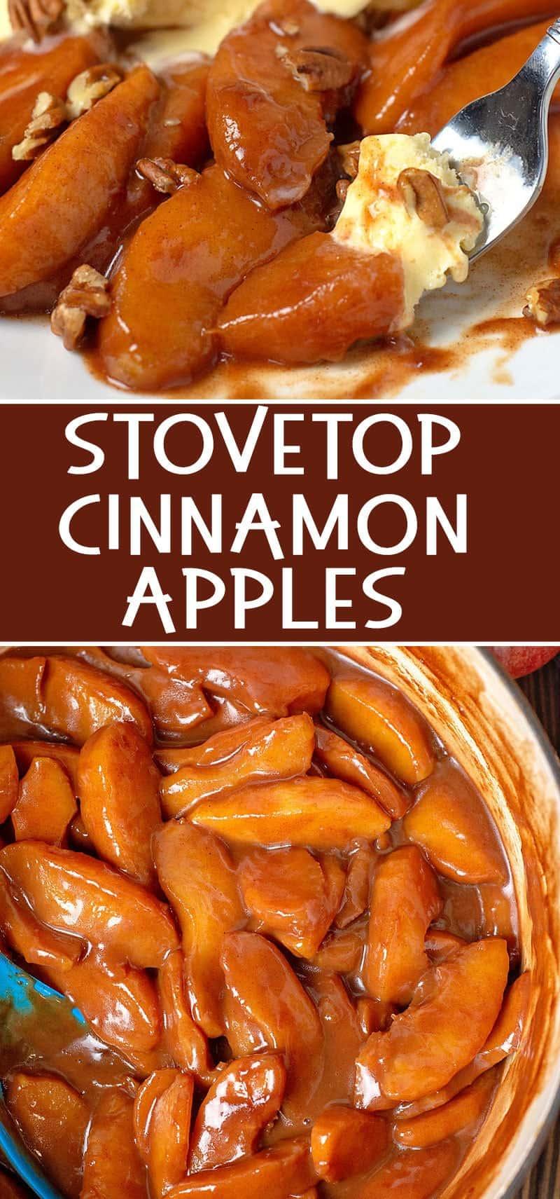 How to make cinnamon apples on the stovetop