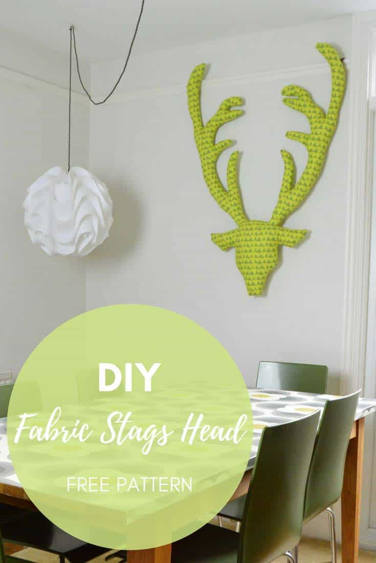 cute christmas ideas - Fabric stuffed stag head tutorial