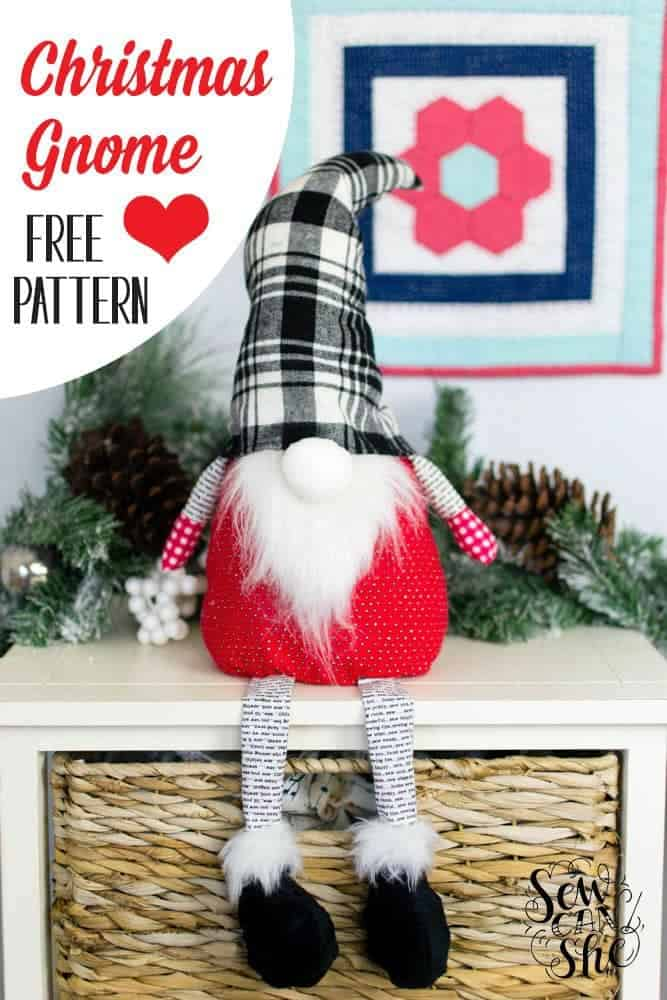 cute christmas ideas - Christmas Gnome sewing pattern
