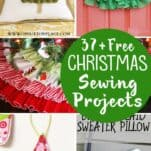 37+ Free Christmas Sewing Projects. If you still need some cute Christmas ideas to sew, here's a round-up of 37 things to sew for Christmas!