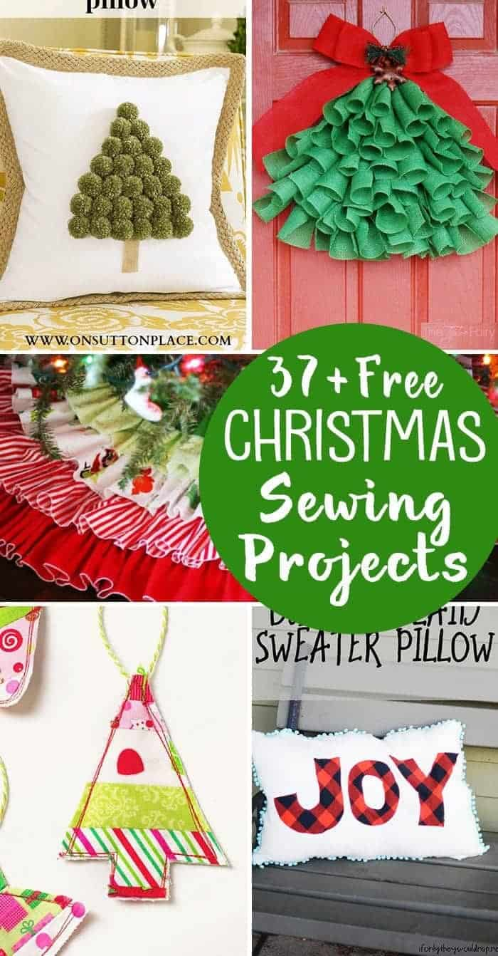 37 Free Christmas Sewing Projects Stockings Ornaments Tree