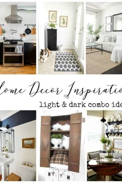 Light and Dark Home Decor Ideas + Inspiration Monday