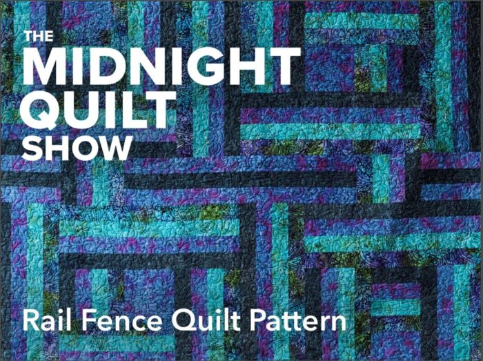 free beginner quilt pattern - rail fence