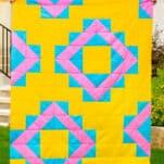 free beginner quilt pattern - summer vibes quilt