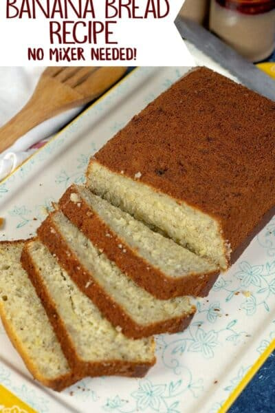 Easy, No Mixer Banana Bread Recipe