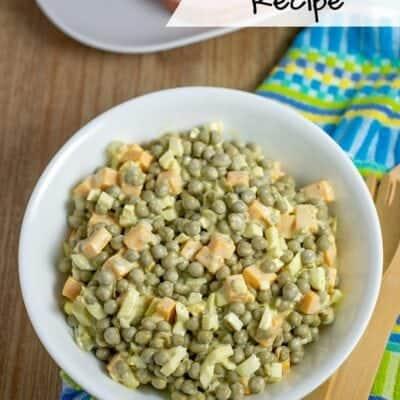 Homemade Pea Salad Recipe Just Like Mom Makes It