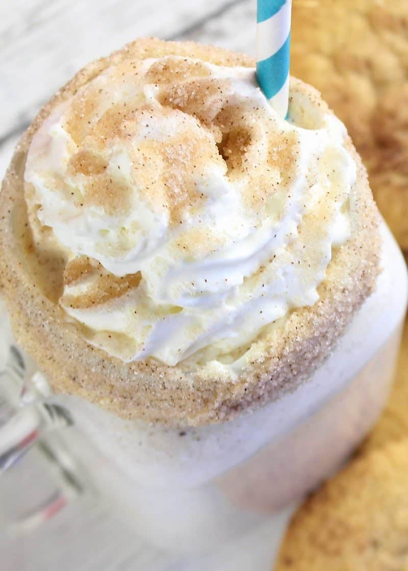 this snickerdoodle milkshake tastes just like a frozen snickerdoodle