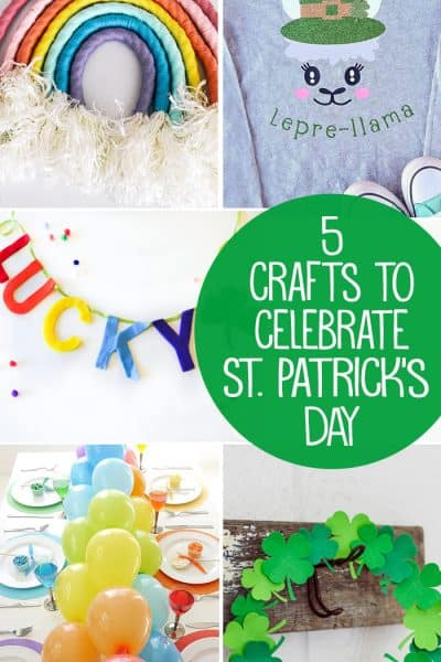 5 Fun Crafts to help Celebrate St. Patrick's Day + Inspiration Monday