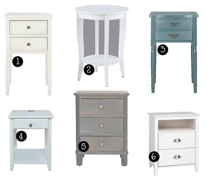 Guest room Decor ideas (bedside table options)