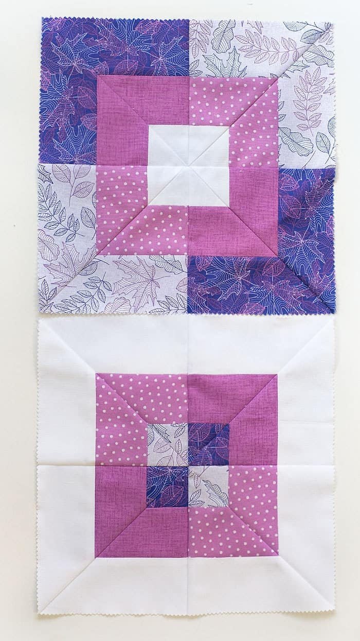 Make a beautiful quilt block with this Square in Square quilt block video tutorial.