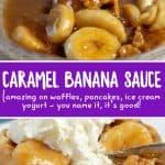 easy caramel banana sauce