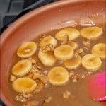 easy caramelized banana sauce