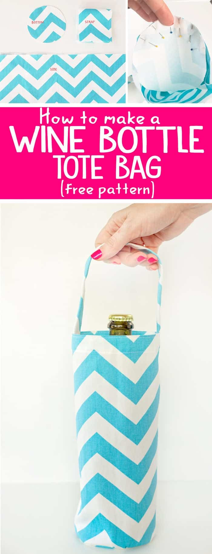 Free Wine Bottle Tote Bag Pattern Scattered Thoughts Of A Crafty Mom