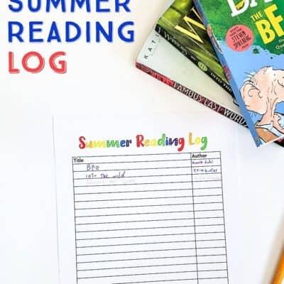 Free Summer Reading Log for Kids (printable)