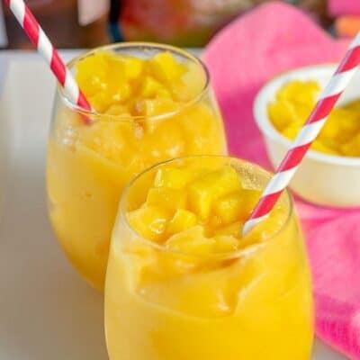 Peach Mango Wine Slushies
