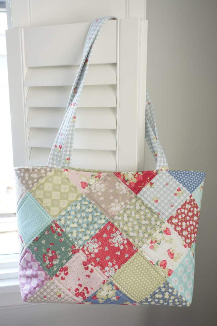adorable quilted patchwork bag tutorial