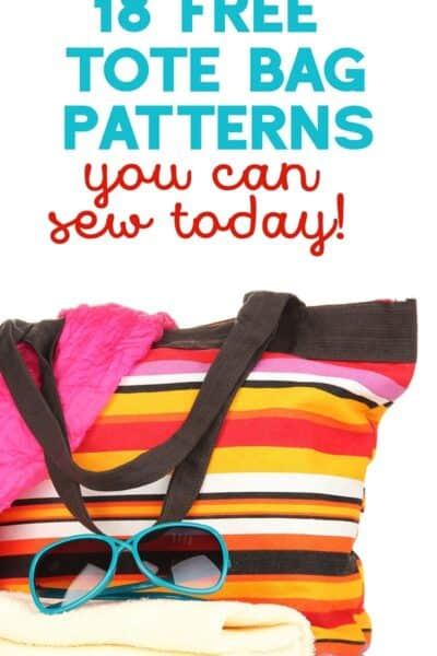 18 Free Tote Bag Patterns to Sew Today!