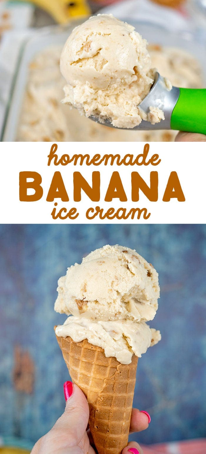 old fashioned banana ice cream