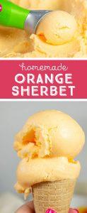 how to make orange sherbet in the ice cream maker