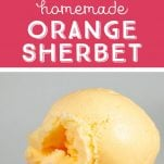 how to make orange sherbet in the ice cream maker