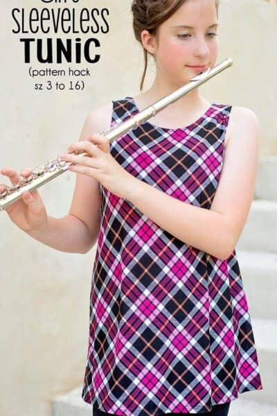 Girls Sleeveless Tunic Top (pattern hack)
