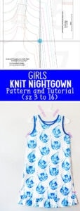 free girls nightgown sewing pattern
