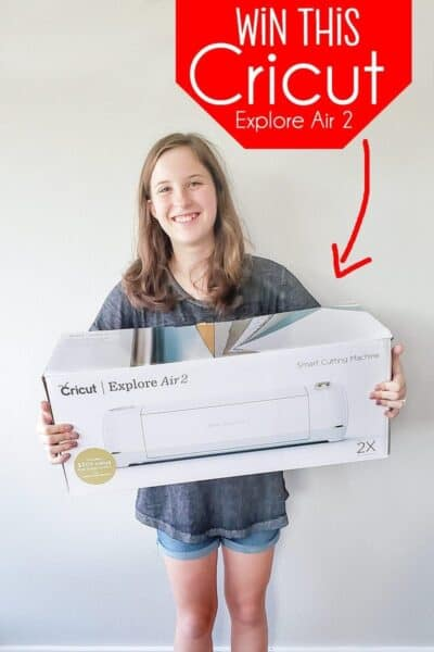 Win a Cricut Explore Air 2 (Plus My 1st Infusible Ink Project)