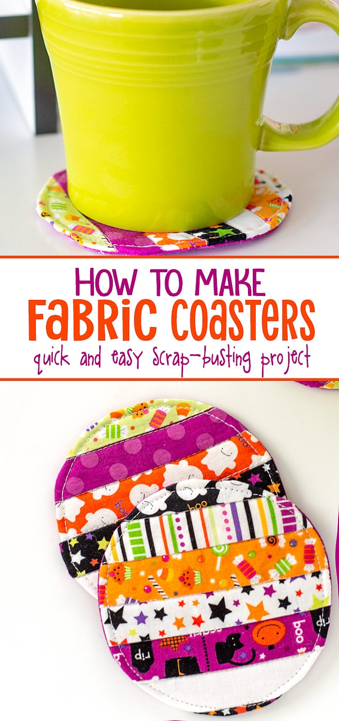 how to make a fabric coaster