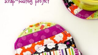 Easy Quilted Fabric Coaster Tutorial