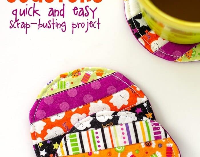 Scrap Buster Alert: Easy Quilted Fabric Coaster Tutorial