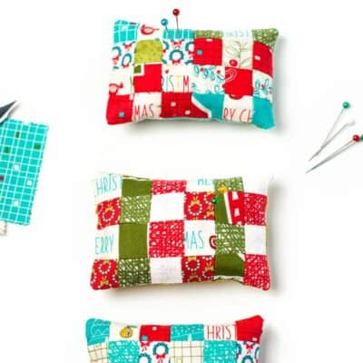 How to Make a Pincushion (Mini Patchwork Pincushion Tutorial)