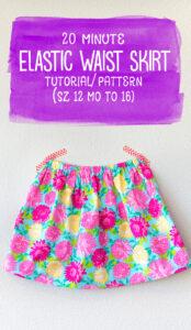 elastic waist skirt pattern