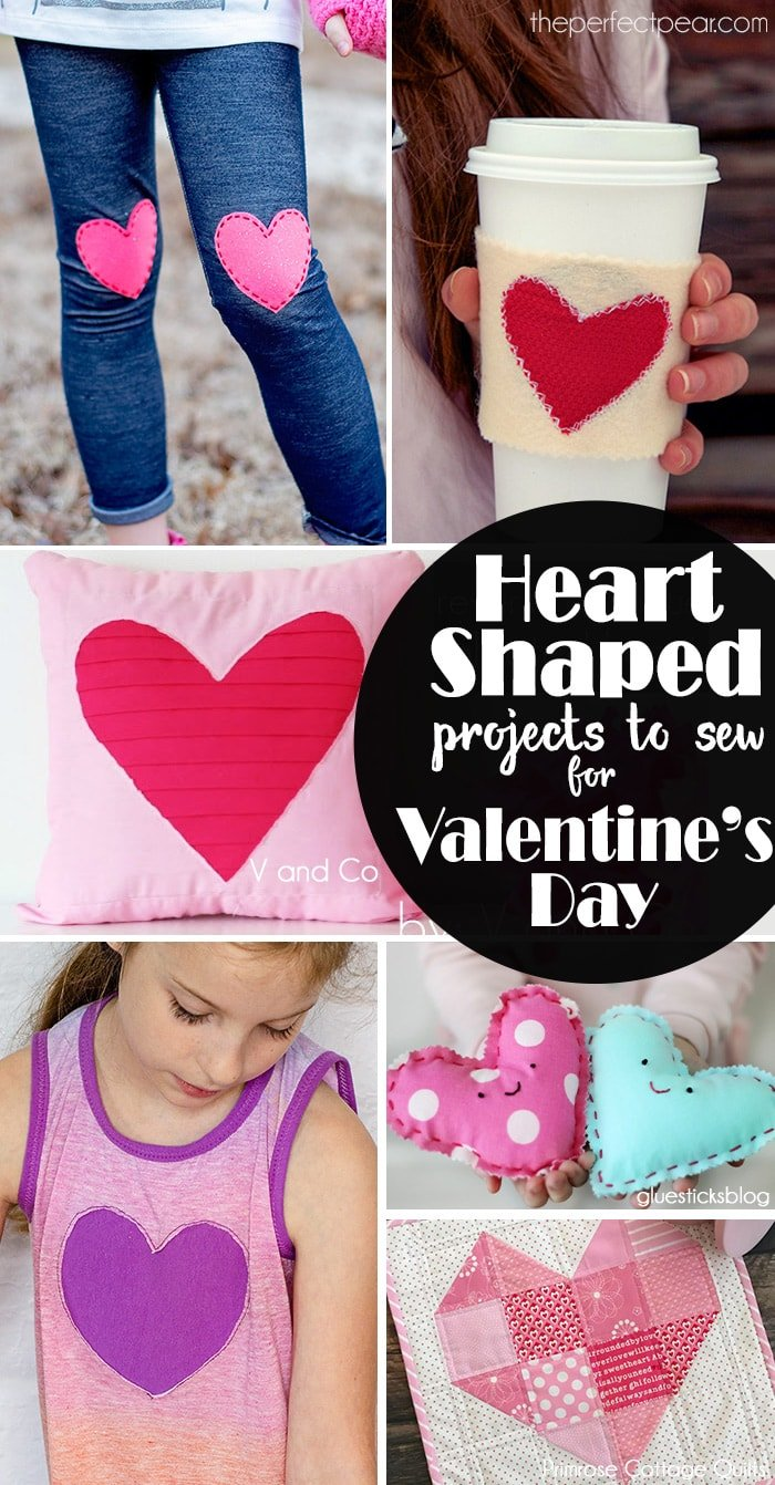Heart Shaped projects to sew for Valentines Day