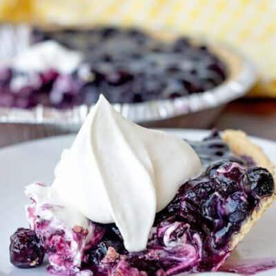 No Bake Blueberry Pie (using fresh or frozen blueberries)