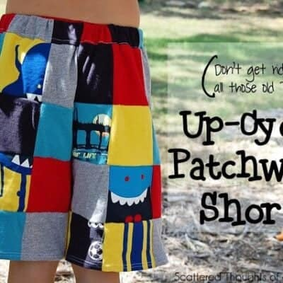 Make Up-cycled Patchwork Shorts from Outgrown Tee's