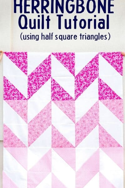 Herringbone Quilt tutorial
